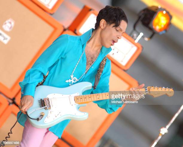 Prince during Prince, Featuring Tamar, Performs at the Good Morning America Summer Concert Series - June 16, 2006 at Bryant Park in New York City,...