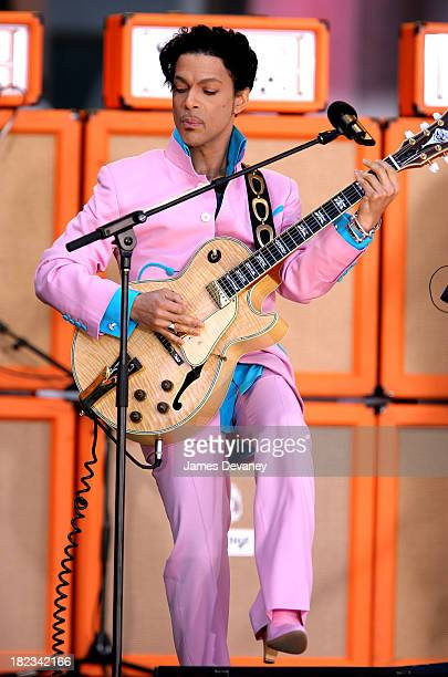 Prince during Prince Featuring Tamar Performs on Good Morning America Summer Concert Series June 16 2006 at Bryant Park in New York City New York...
