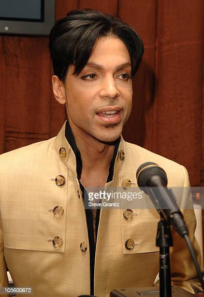 Prince during Prince Signs with Universal Records and Releases His New Album 3121 at Regent Beverly Wilshire Hotel in Beverly Hills California United...