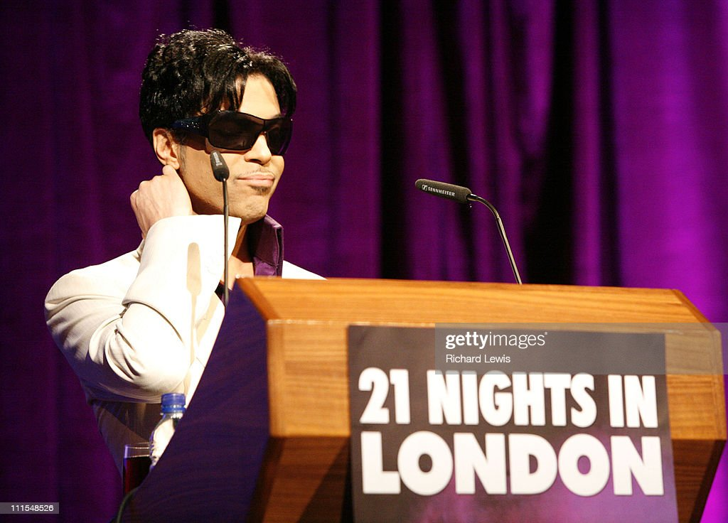 Prince during Prince Tour Announcement Photocall at The Hospital in London, United Kingdom.