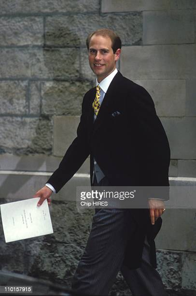 Prince Edouard at The wedding of SArmstrongJones and DChatto in United Kingdom on July 14 1994