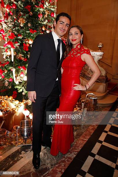 Prince Edouard de Ligne de la Tremoille and Isabella Orsini Princesse Isabella de Ligne De La Tremoille attend The Children for Peace Gala at Cercle...