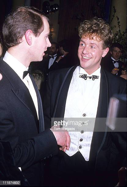 HRH Prince Edward and Michael Ball during Michael Ball at the Opening Night Party of the Musical 'Aspects of Love' at Waldorf Hotel in London Great...