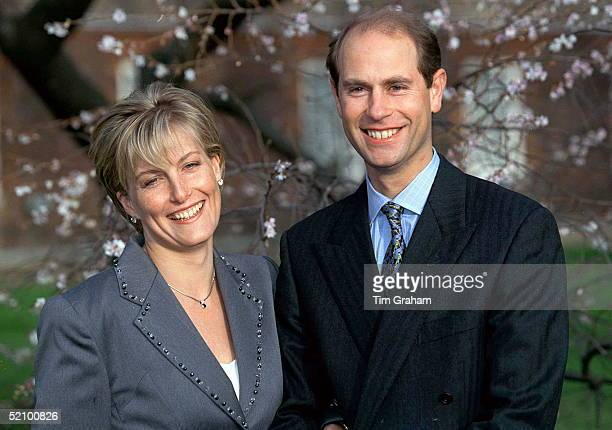 Prince Edward And Miss Sophie Rhysjones On The Day Of Their Engagement