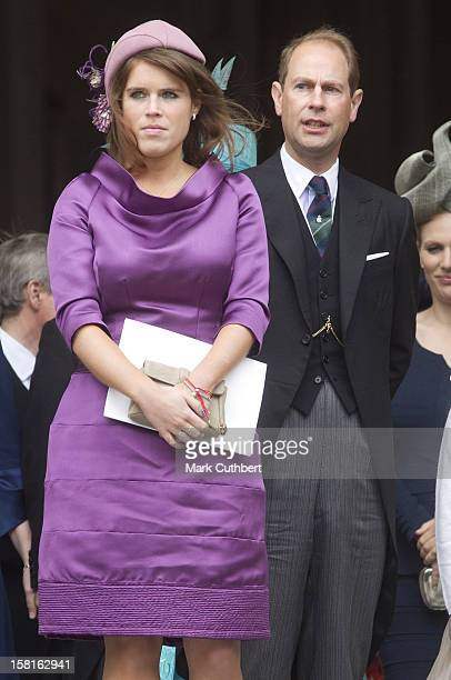 Prince Edward And Princess Eugenie Attending A National Service Of Thanksgiving At St Paul's Cathedral In London As Part Of The Diamond Jubilee...