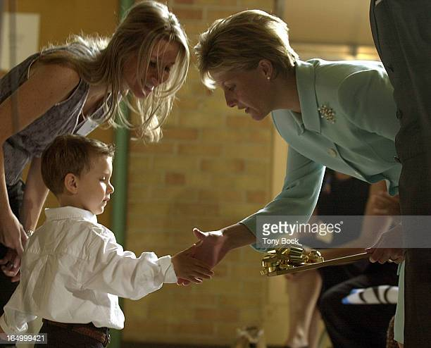 Prince Edward and Princess Sophie, the Earl and Countess of Wessex, visit the New Haven Learning Centre for Children in Etobicoke. Joey Klein, 4yrs,...
