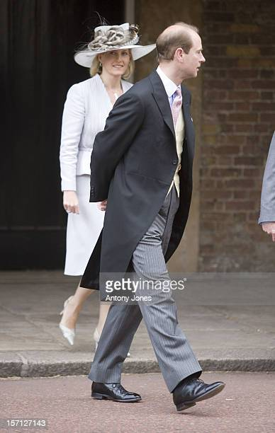 Prince Edward And Sophie Countess Of Wessex Arrives At The Wedding Of Lady Rose Windsor Youngest Daughter Of The Duke Duchess Of Gloucester Who...