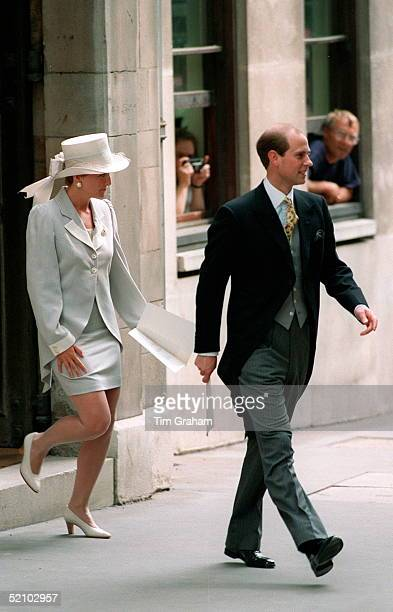 Prince Edward And Sophie Rhysjones At The Wedding Of Lady Saraharmstrong Jones To Daniel Chatto In London