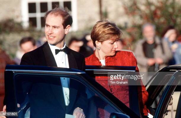 Prince Edward And Sophie Rhysjones Attending Wedding Of Lord Ivor Mountbatten Wedding