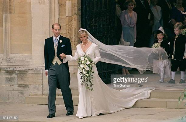 Prince Edward And Sophie Rhys-jones On The Day Of Their Wedding.