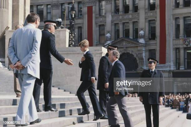 Prince Edward arriving at St Paul's Cathedral for a wedding rehearsal days before his brother Prince Chalrles marries Lady Diana Spencer London 27th...