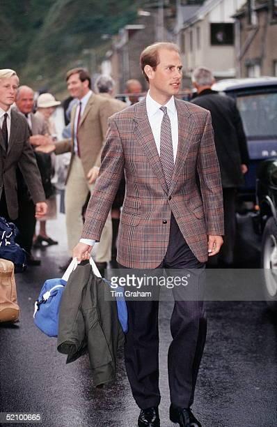 Prince Edward Arriving In Scrabster Scotland