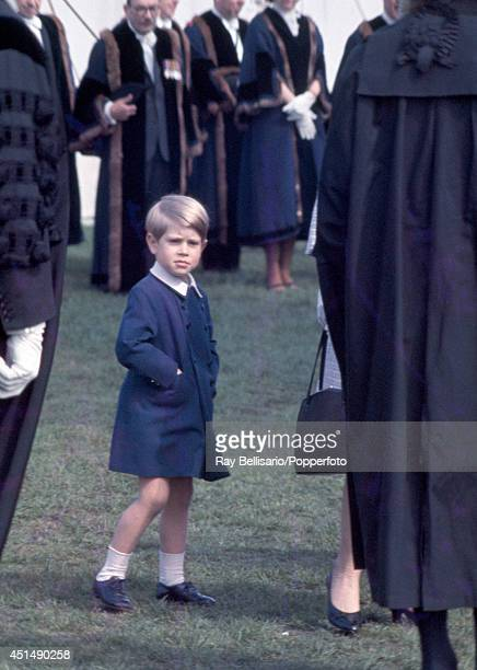 Prince Edward at a military parade in Home Park Windsor on 4th May 1968