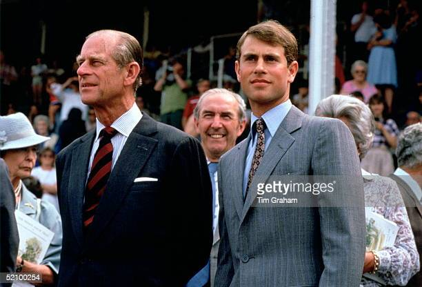 Prince Edward At One Of His First Official Engagements Attending A Royal Ascot Spectacular Charity Event With His Father To Raise Funds For The...