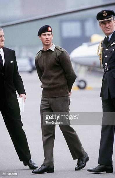 Prince Edward At Raf Benson In Royal Marines Uniform