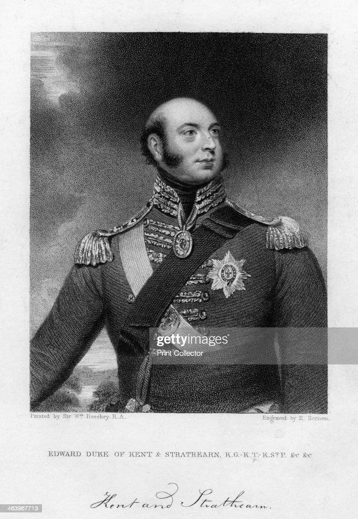 Prince Edward Augustus (1767-1820), Duke of Kent and Strathearn, 19th century.Artist: E Scriven : News Photo