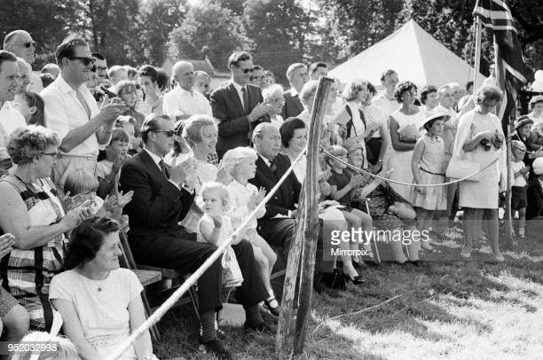 Prince Edward Duke of Kent and Katharine Duchess of Kent at Iver Fair Buckinghamshire with their children George and Helen Windsor 20th September 1966