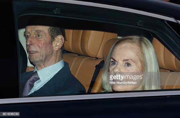 Prince Edward Duke of Kent and Katharine Duchess of Kent attend a Christmas lunch for members of the Royal Family hosted by Queen Elizabeth II at...