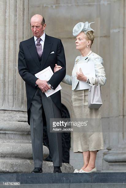 Prince Edward Duke of Kent and Katherine Duchess of Kent attend a service of thanksgiving on June 5 2012 in London England For only the second time...