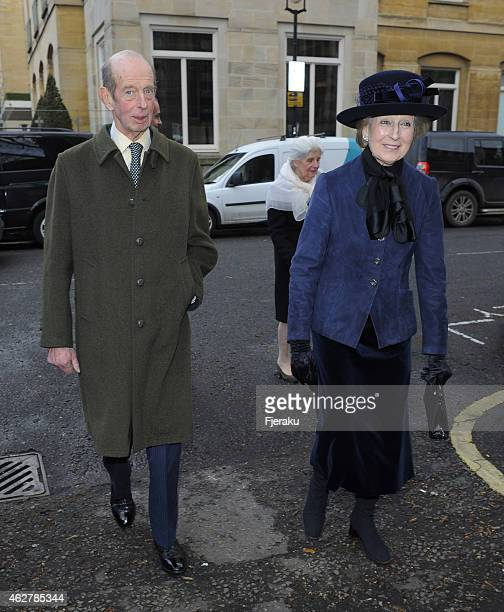 Prince Edward Duke of Kent and Princess Alexandra are seen arriving at the Sir Jocelyn Stevens memorial service who passed away at the age of 82 last...