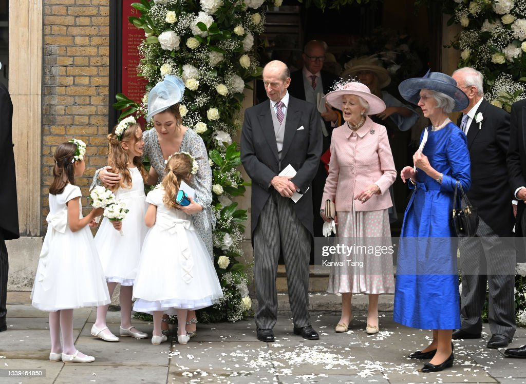 Flora Alexandra Ogilvy And Timothy Vesterberg Marriage Blessing At St James's Piccadilly : ニュース写真