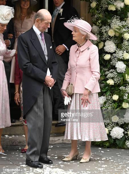 Prince Edward, Duke of Kent and Princess Alexandra, The Honourable Lady Ogilvy attend Flora Alexandra Ogilvy and Timothy Vesterberg's marriage...