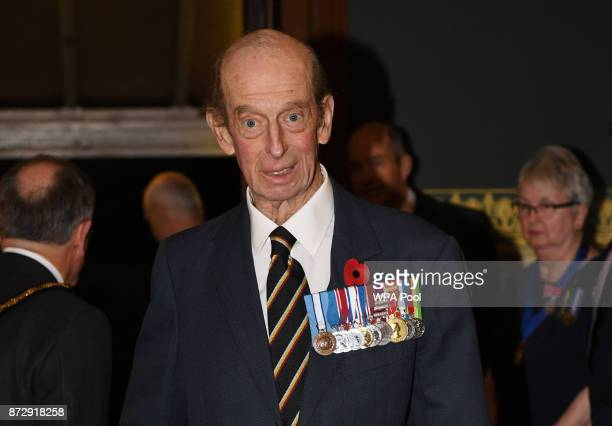 Prince Edward Duke of Kent arrives at the annual Royal Festival of Remembrance to commemorate all those who have lost their lives in conflicts at the...