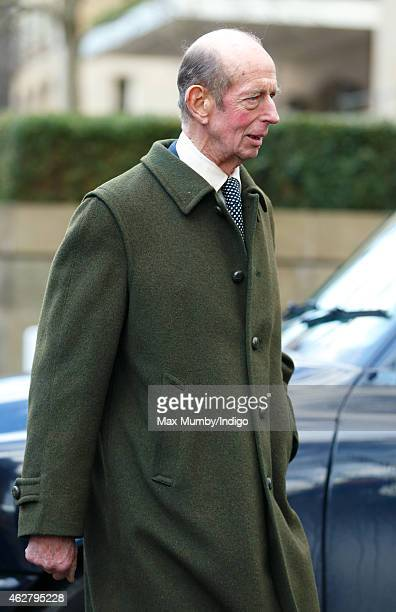 Prince Edward Duke of Kent attends a Service of Thanksgiving for the life of Sir Jocelyn Stevens at St Paul's Knightsbridge on February 5 2015 in...