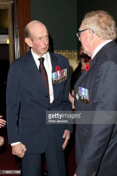 Prince Edward Duke of Kent attends the annual Royal British Legion Festival of Remembrance at the Royal Albert Hall on November 09 2019 in London...