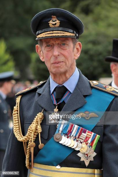 Prince Edward Duke of Kent attends the RAF 100 ceremony on Horse Guards Parade on July 10 2018 in London England A centenary parade and a flypast of...