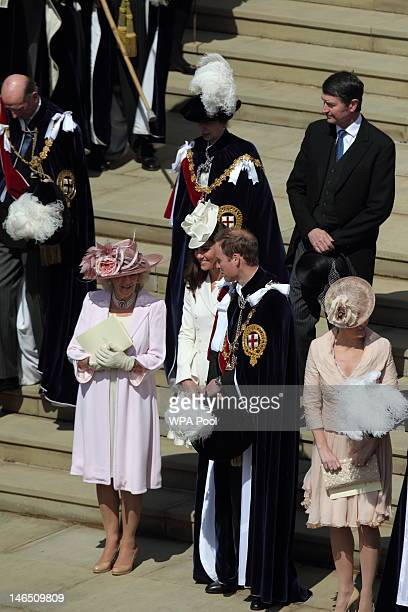 Prince Edward Duke of Kent Camilla Duchess of Cornwall Catherine Duchess of Cambridge Prince William Duke of Cambridge and Sophie Countess of Wessex...