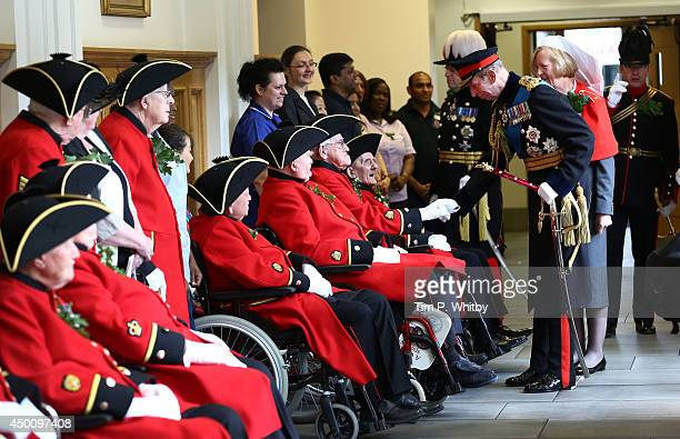 Prince Edward, Duke of Kent visits the infirmary before attending the Founders Day Parade at Royal Hospital Chelsea on June 5, 2014 in London,...