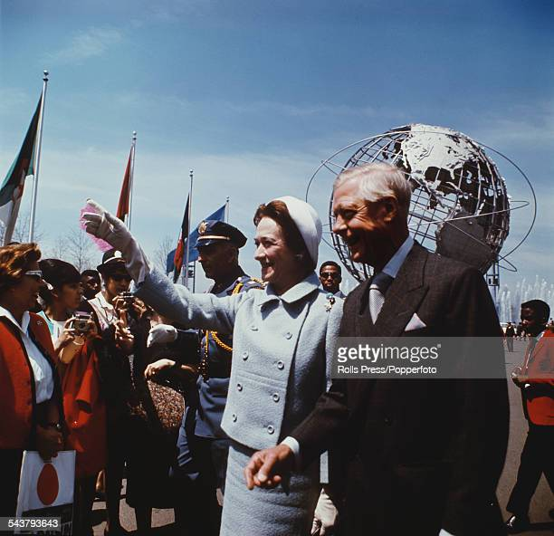 Prince Edward Duke of Windsor formerly Edward VIII pictured with Wallis Duchess of Windsor during a visit to New York World's Fair on 5th June 1964