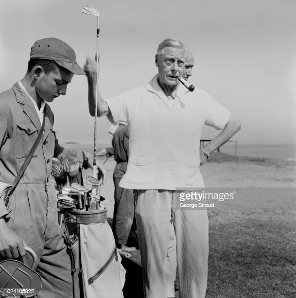 Prince Edward, Duke of Windsor pictured playing a round of golf in Spain on 23rd September 1963.