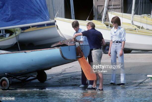 Prince Edward During Cowes Week At Cowes Royal Regatta With Lady Sarah Spencer Sister Of Lady Diana Spencer Who Became The Princess Of Wales