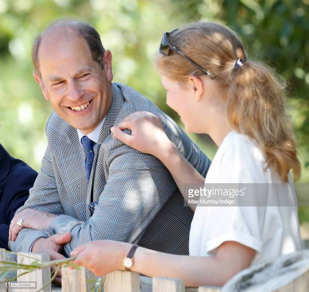 Prince Edward Earl of Wessex and Lady Louise Windsor visit The Wild Place Project at Bristol Zoo on July 23 2019 in Bristol England