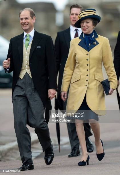 Prince Edward Earl of Wessex and Princess Anne Princess Royal attend the wedding of Lady Gabriella Windsor and Mr Thomas Kingston at St George's...