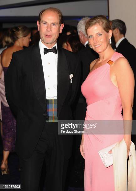 Prince Edward, Earl of Wessex and Sophie, Countess of Wessex arrive at the 2012 Paralympic Ball at Grosvenor House, on September 5, 2012 in London,...