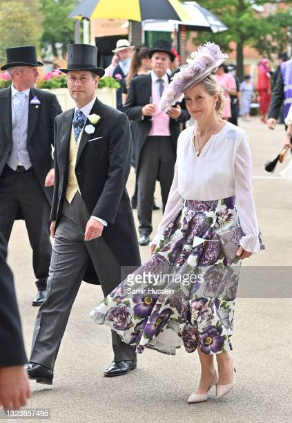 Prince Edward, Earl of Wessex and Sophie, Countess of Wessex attend Royal Ascot 2021 at Ascot Racecourse on June 16, 2021 in Ascot, England.