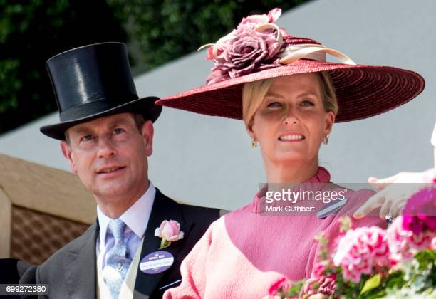Prince Edward Earl of Wessex and Sophie Countess of Wessex attend Royal Ascot 2017 at Ascot Racecourse on June 21 2017 in Ascot England