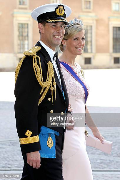 Prince Edward Earl of Wessex and Sophie Countess of Wessex attend the wedding of Princess Madeleine of Sweden and Christopher O'Neill hosted by King...