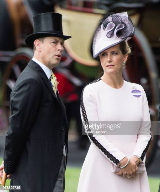 Prince Edward, Earl of Wessex and Sophie Countess of Wessex attends Royal Ascot Day 1 at Ascot Racecourse on June 19, 2018 in Ascot, United Kingdom.