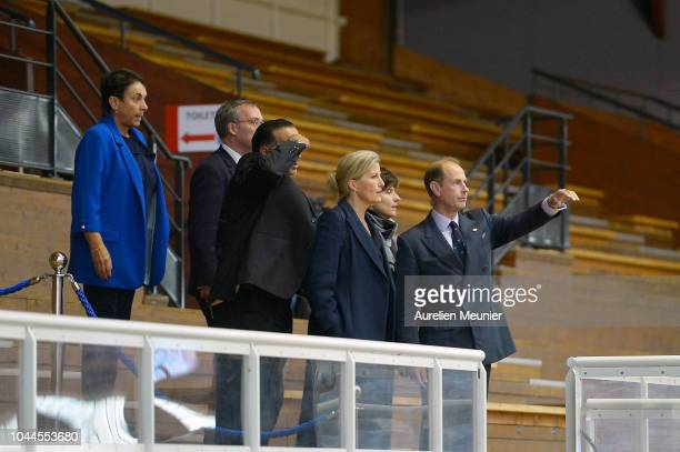 Prince Edward Earl Of Wessex and Sophie Countess Of Wessex visit INSEP on October 2 2018 in Paris France Prince Edward Earl Of Wessex and Sophie...