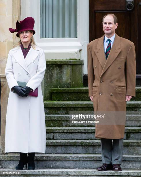 Prince Edward, Earl of Wessex and Sophie, Countess of Wessex visit the Corps of Army Music for a renaming ceremony and short parade at Kneller Hall...