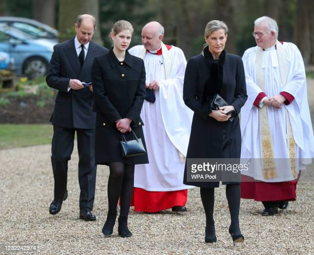 Prince Edward, Earl of Wessex and Sophie, Countess of Wessex with their daughter Lady Louise Windsor, during a television interview at the Royal...