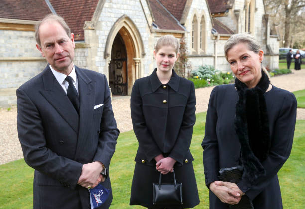 GBR: Royal Family Attend Sunday Service In Windsor