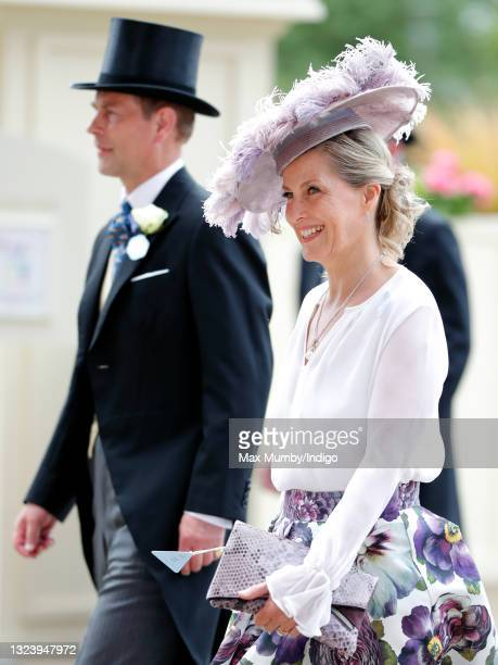 Prince Edward, Earl of Wessex and Sophie Rhys-Jones - Countess of Wessex attend day 2 of Royal Ascot at Ascot Racecourse on June 16, 2021 in Ascot,...