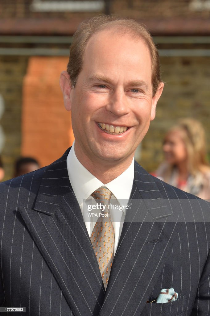 Prince Edward, Earl of Wessex arrives for a visit to Robert Browning Primary School in Walworth to see the work of youth charity Kidscape, recipients of grants from the Wessex Youth Trust, during an official visit on the Earl's 50th Birthday on March 10, 2014 in London, United Kingdom.