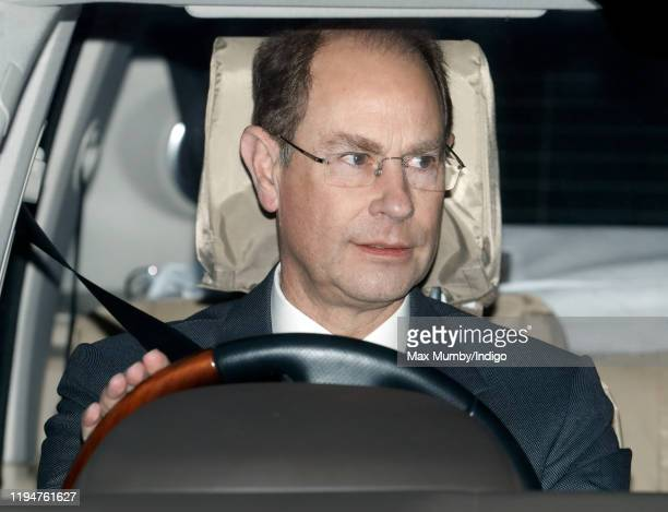 Prince Edward, Earl of Wessex attends a Christmas lunch for members of the Royal Family hosted by Queen Elizabeth II at Buckingham Palace on December...