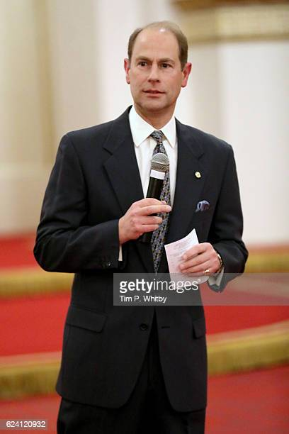 Prince Edward Earl of Wessex attends as the National Youth Theatre celebrates its Diamond Anniversary hosted by HRH The Earl of Wessex at Buckingham...